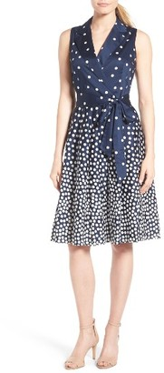 Women's Anne Klein Polka Dot Faux Wrap Dress $119 thestylecure.com