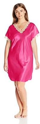 Shadowline Women's Plus-Size Charming Satin Charmeuse Sleepshirt