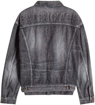 Logo Embossed Denim Jacket