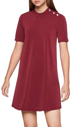 BCBGeneration Snap Detail Trapeze Dress