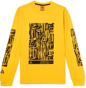 Nike Acg Printed Waffle-Knit Jersey T-Shirt