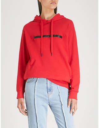 Izzue Freedom slogan cotton-jersey hoody