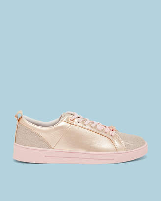 Ted Baker KULEIC Leather glitter tennis sneakers
