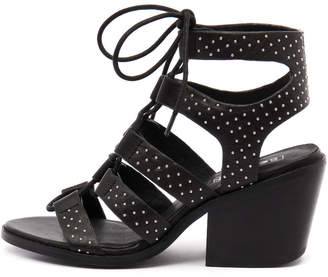 Sol Sana Rudey heel Black-silver st Sandals Womens Shoes Casual Heeled Sandals