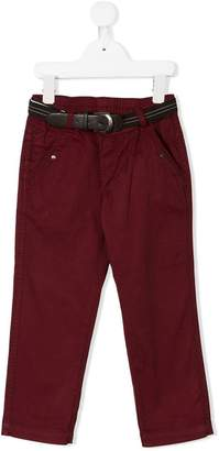 Lapin House belted slim-fit trousers