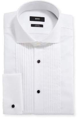 BOSS Men's Slim-Fit Easy Iron Pleated Bib Tuxedo Shirt