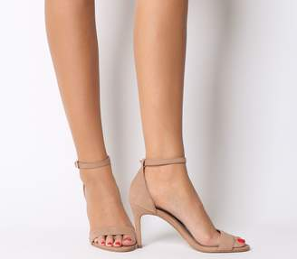 75f62230ab7 Office Mimosa Mid Heel Sandals Nude Nubuck
