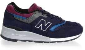 New Balance Men's 997 Pig Suede Sneakers - Navy - Size 6 D