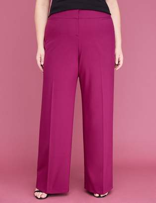 Lane Bryant Allie Tailored Stretch Wide Leg Pant - Purple