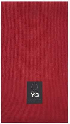 Y-3 Y 3 Logo-patch Wool-blend Scarf