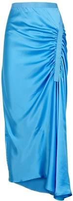 CHRISTOPHER ESBER Incline Blue Silk Midi Skirt
