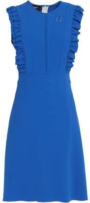 Rochas Ruffle-Trimmed Crepe Dress