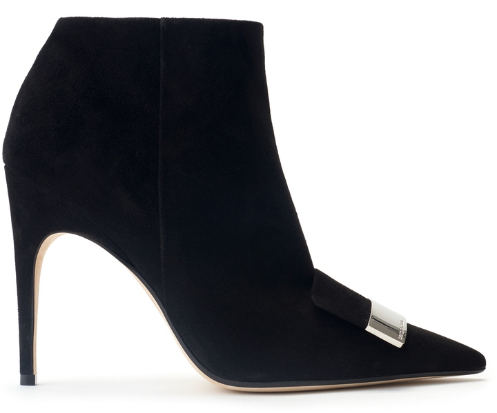 Sergio Rossi Suede Placked Bootie