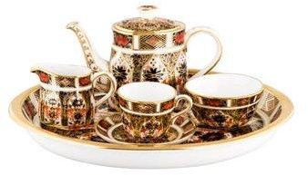 Royal Crown Derby 6-Piece Old Imari Miniature Tea Set