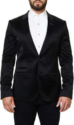 Maceoo Dobby Checked Blazer Jacket