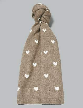 Marks and Spencer Pure Cashmere Heart Print Scarf