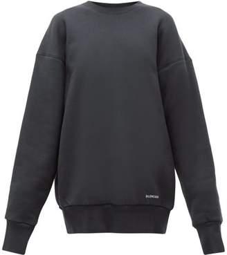 Balenciaga Oversized Cotton Sweatshirt - Womens - Light Grey