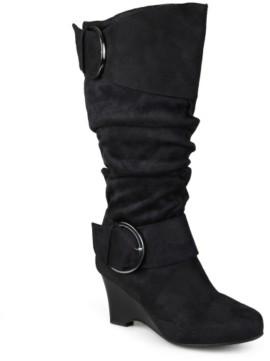Journee Collection Irene-1 Extra Wide Calf Wedge Boot