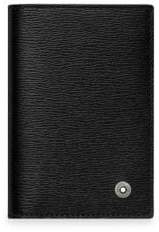 Montblanc Men's Leather Business Card Holder - Black