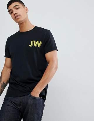 Jack Wills Archibold jw logo t-shirt in black