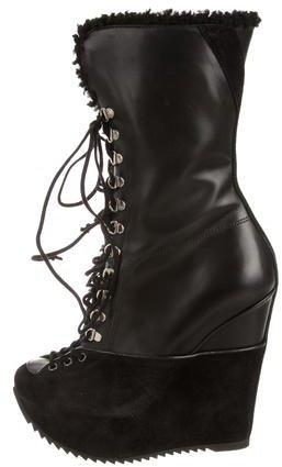 Saint LaurentYves Saint Laurent Shearling-Lined Boots w/ Tags