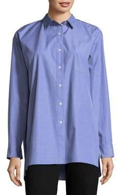 Lafayette 148 New York Cotton Button-Down Shirt