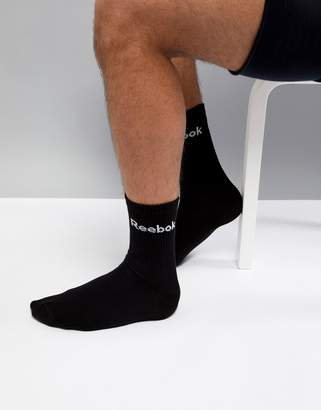 Reebok Training Socks In Black AB5280