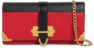Prada Mini Cahier Leather Shoulder Bag