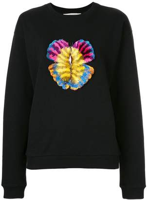 Mary Katrantzou butterfly embroidered sweatshirt