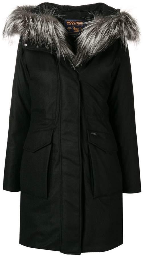 military loose parka coat