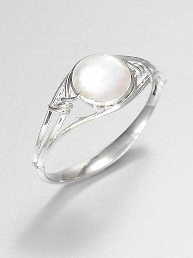 Stephen Webster Mother-of-Pearl, Clear Quartz and Sterling Silver Bracelet