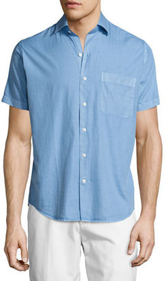 Peter Millar Seaside Washed Short-Sleeve Shirt $115 thestylecure.com