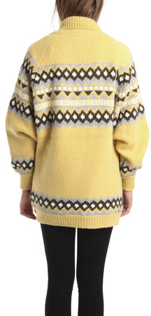 Charlotte Ronson Sweater Coat with Quilted Lining