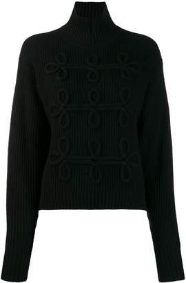 Karl Lagerfeld Paris soutache detail jumper