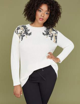 Lane Bryant Sequin Embellished Sweater