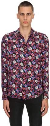 Floral Printed Silk Shirt