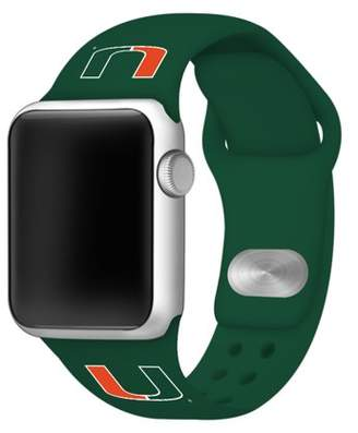Affinity Bands Miami Hurricanes 42mm Silicone Sport Band fits Apple Watch - BAND ONLY