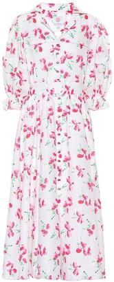 Gül Hürgel Floral linen midi dress
