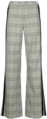 Alice + Olivia Alice+Olivia check print flared trousers