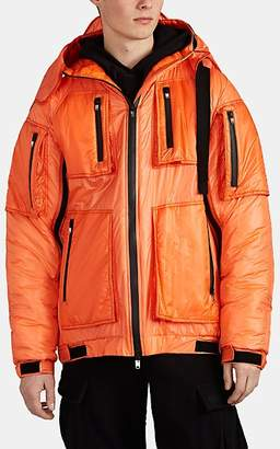 Takahiromiyashita theSoloist Men's Hooded Tech-Taffeta Puffer Jacket - Orange