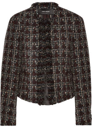 Isabel Marant Fania Cropped Wool-blend Tweed Jacket