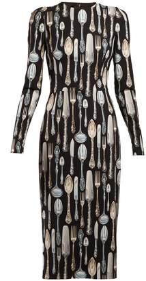Dolce & Gabbana Cutlery-print dress