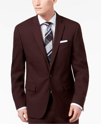 Ryan Seacrest Distinction Men's Slim-Fit Stretch Burgundy Solid Suit Jacket, Created for Macy's
