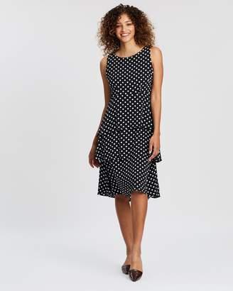 Wallis Spot Tiered Pasadena Dress
