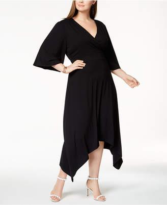 INC International Concepts I.n.c. Plus Size Asymmetrical-Hem Midi Dress, Created for Macy's