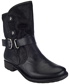 As Is BareTraps Suede & Leather Water Resistant Ankle Boots $52.50 thestylecure.com