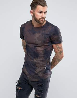 Religion T-Shirt with All Over Tie Dye Print