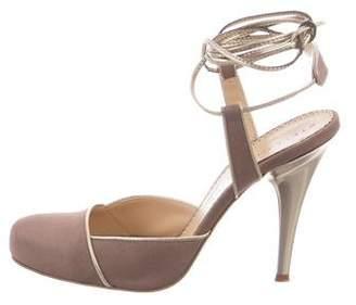 Stella McCartney Woven Round-Toe Pumps
