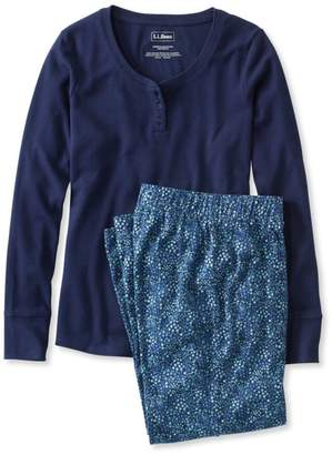 L.L. Bean L.L.Bean Ultrasoft Pajama Set, Long-Sleeve Floral