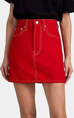 Helmut Lang Women's Femme Denim High-Rise Miniskirt - Red